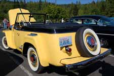 Photo of 1948 Overland Willys Jeepster in original Fiesta Yellow and Princeton Black paint colors