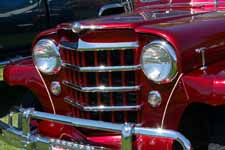 1950 Willys Overland Jeepster front grille is very different from the grille used on 1948 and 1949 Jeepster models