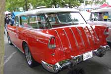 1955 Chevy Bel Air Nomad Wagon Painted White Over Red