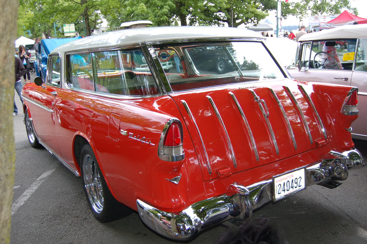 1955 Chevy Nomad Wagon Photos And Specs From Custom Paint Bel Air Painted White Over Red