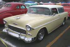 1955 Chevy Belair Nomad Wagon in Rare Yellow and White Paint Job