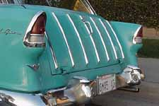 Un-restored Turquoise Tailgate on 1955 Chevy Bel Air Nomad Station Wagon
