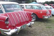 Pair of 1955 Chevrolet Bel Air Nomad Station Wagons at Car Show