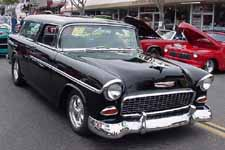 Beautiful 1955 Chevy Bel Air Nomad Wagon Painted Onyx Black (687)