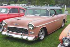 Classic 1955 Chevy Bel Air Nomad Wagon Painted Shadow Gray #594 Over Coral #626
