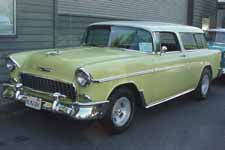Clean 1955 Chevy Bel Air Nomad Wagon in Rare Lemony Yellow Paint Color