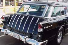 Black Tailgate With Chrome Spears on 1955 Chevy Nomad S/W