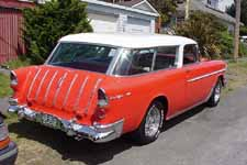 1955 Chevrolet Nomad Wagon Painted Original White and Gypsy Red #596 Paint