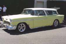 Stock White and Yellow Paint on 1955 Chevy Bel Air Nomad S/W