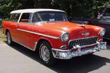 Front Overriders and Wire Wheels on 1955 Chevy Bel Air Nomad Wagon