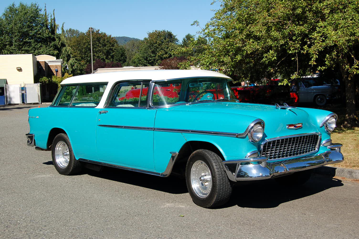 1955 Chevy Nomad Wagon Photos And Specs From 1957 Fresh Stock Skyline Blue 588 Paint Color On Chevrolet Station
