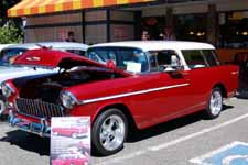 Very Sharp 1955 Chevy Nomad Wagon Painted White Over Metallic Red