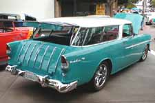 Stock Regal Turquoise (598) Paint Color on 1955 Chevy Nomad Wagon