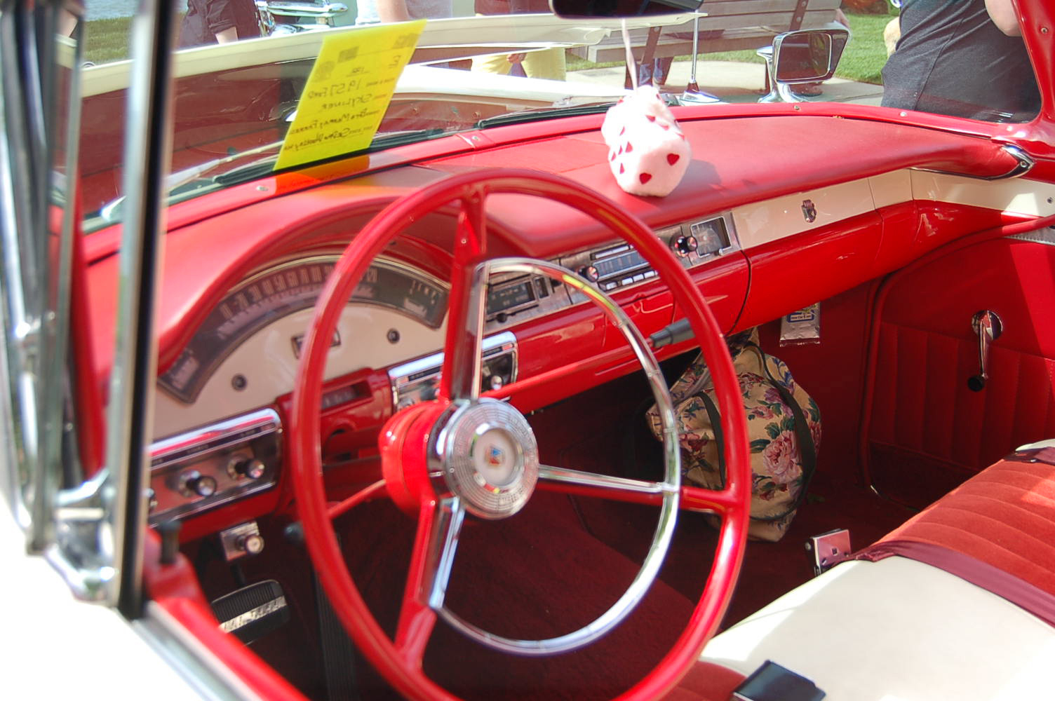 beautifully restored 1957 ford fairlane 500 skyliner dash and interior