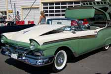 1957 Ford Fairlane Painted Original Colonial White #M0524 and Cumberland Green #M0755