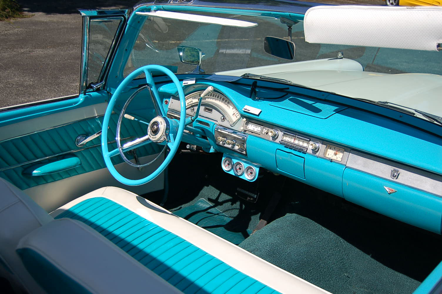 1958 Ford Fairlane Retractable Hardtop Photos And Specs From 1957 Top Wiring Diagram Beautifully Restored With Gulfstream Blue Upholstery