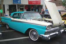 Classic 1959 Ford Skyliner Restoration In Colonial White #M0524 Over Indian Turquoise #M1019 Paint