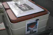 Photo of Vintage Luggage in 1959 Ford Galaxie Retractable Hardtop Trunk Bin