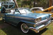 Fully restored 1959 Ford Galaxie Skyliner retractable hardtop in original Surf Blue metallic paint color (#M1011)