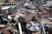 Tons of original parts for classic cars and trucks stored in vintage car junkyard