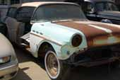 Very desirable vintage Buick Caballero station wagon project in classic car storage yard
