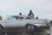 Rare and restorable 1950's Cadillac Eldorado stored in vintage car junkyard