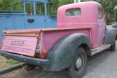 Classic Dodge pickup truck bed in great shape - old car salvage lot
