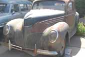 Super rare Lincoln Zephyr coupe at classic car junkyard and ready for restoration